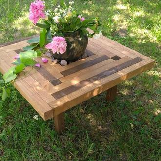 """Квадратный  кофейный столик с нишей """"Дубовая роща"""""""