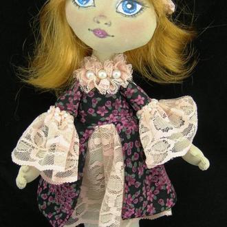 Текстильная куколка в бальном платье