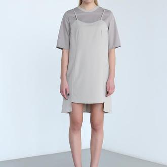 Платье с имитацией футболки