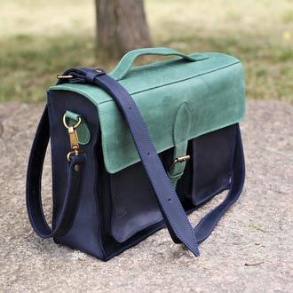 """Кожаная сумка для ноутбука """"Strong"""", мужской / женский кожаный портфель"""