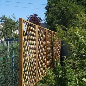 Решетка-забор (деревянные секции)
