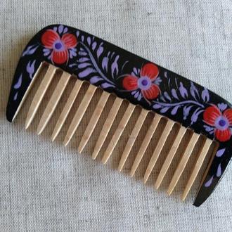Деревянная расческа, гребень для волос с редкими зубьями Ноченька