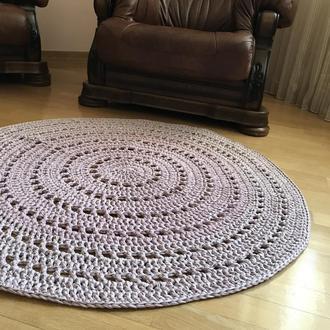 Ковер вязаный (трикотажная пряжа) диаметр 120 см