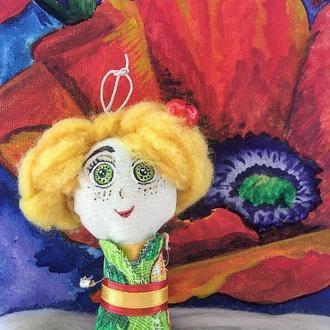 """Кукла-портрет коллекции """"Летний грильяж"""", Маленькая хозяюшка"""