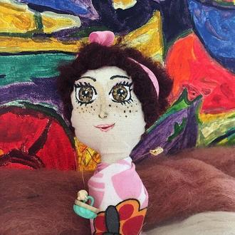 """Кукла-портрет коллекции """"Летний грильяж"""", Любительница Мороженки"""