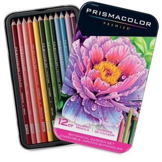 Ботанические цвета. Набор мягких карандашей PRISMACOLOR 12 штуки.