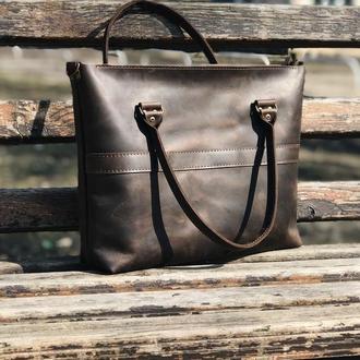 Кожаная сумка Aurora maxi brown