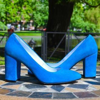 Jane Blue - классические лодочки на устойчивом каблуке