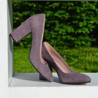 Jane Lilac классические лодочки на устойчивом каблуке