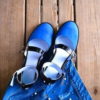 Thea Blue - кожаные сандалии