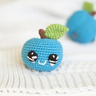 Вязаная синяя слива ,игрушка вязаная крючкм, амигуруми