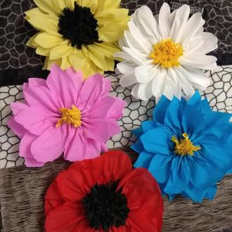 Большие цветы для фотозоны, помпоны, декор на праздник!