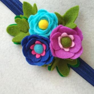 Цветы с фетра