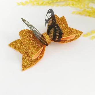 Бантики з фоамірану з метеликами, на заколці