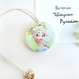 """Подвеска медальон """"Эльза"""""""