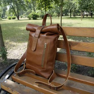 Мужской кожаный рюкзак XL