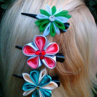 Цветы канзаши на каждый день