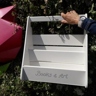 Органайзер для хранения книг от WodAsFun, деревянный
