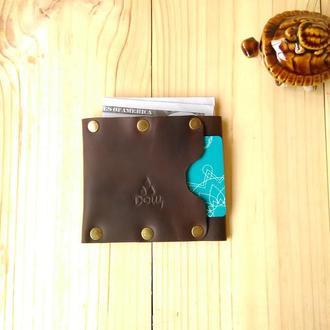 Шкіряний гаманець Дощ TURKUL, коричневий