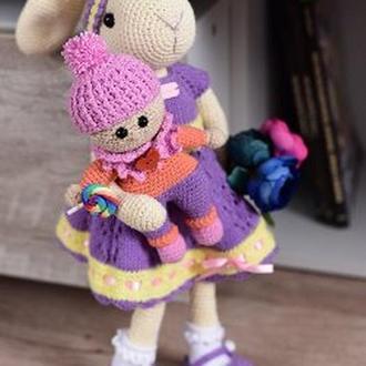 Зайка Виолетта крючком ручной работы.