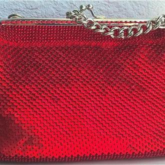 клатч, вечерняя сумочка, красный клатч, сумочка из пайеток