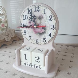 вечный календарь-часы