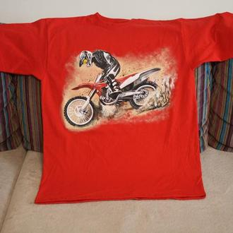 футболка ручная роспись ручний розпис принт мотокрос мотоцикл байк байкер