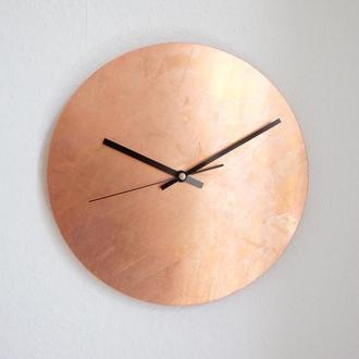 Настенные часы из натуральной меди