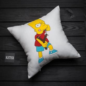 """Декоративная подушка ручной работы """"Барт"""""""
