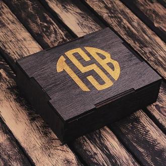 Стильная коробка для кошелька с любой гравировкой