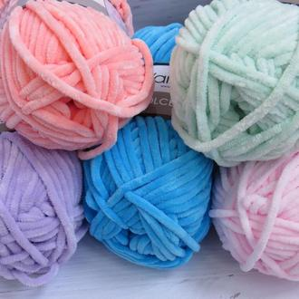 Пряжа для ручного вязания YarnArt Dolce, плюшевая пряжа для вязания пледов и игрушек