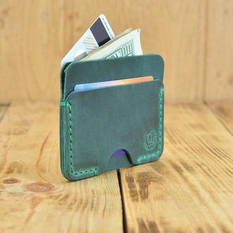 Кардхолдер кожаный, кошелек для визиток и денег