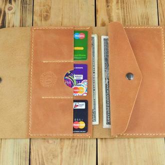 Женский кожаный кошелек для монет, денег и кредиток