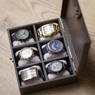 Коробка для часов из дерева Hetch DS9 на 6 отделений
