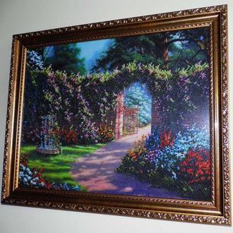 Картина бисером Цветущий сад