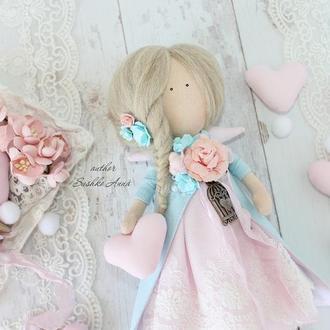 Интерьерная кукла ангел Тильда