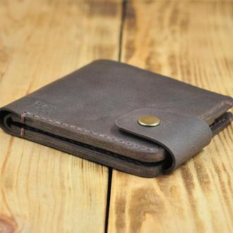 Кожаный бумажник для кредиток, денег и визиток