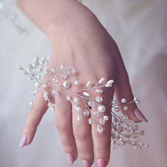свадебный венок со шпильками 'WHITE''
