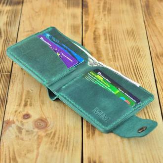Кожаный бумажник для денег и кредиток