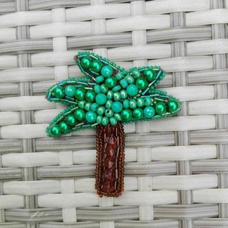 Брошка пальма