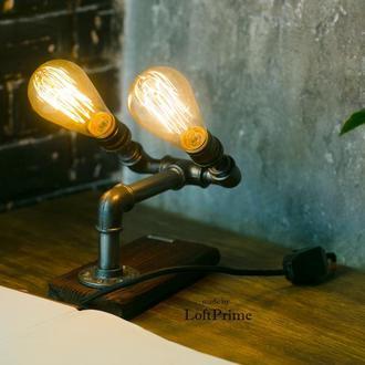 Авторский светильник из водопроводных труб Т-11.1