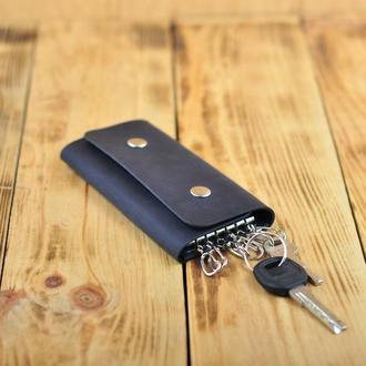 Кожаный футляр для 6 ключей. Бесплатная персонализация