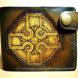 Кожаный кошелек Кельтский