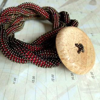 Чокер. Этническое. Колье. Украинское украшение из бисера. Бижутерия на шею. Подарок для женщины.