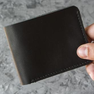 Классический мужской кошелёк из кожи