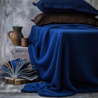 Плед вязаный Vividzone ГЛАДЬ 160х170 синий