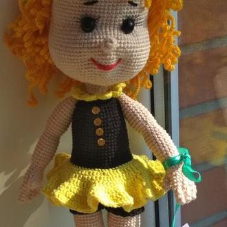 Коллекционная , интерьерная кукла Одуванчик
