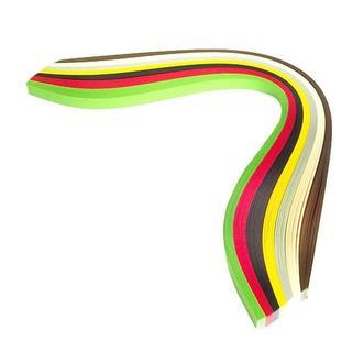 Набор бумаги для квиллинга 5 мм, Регги 7 цветов, 160 г/м2, 100 шт.