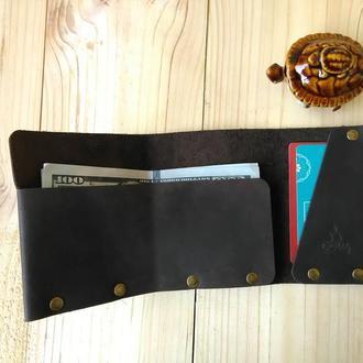 Шкіряний гаманець ДОЩ GORGAN, коричневий