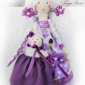 Кукла тильда Кэтти с зайкой